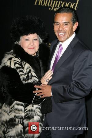 Estelle Harris and Antonio Villaraigosa