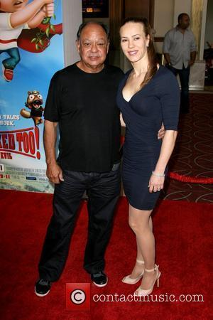 Cheech Marin and Natasha Rubin Los Angeles premiere of Hoodwinked Too! Hood vs Evil held at The Grove - Arrivals...