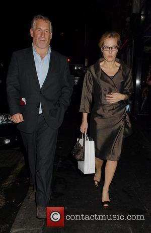Gillian Anderson and Cafe De Paris