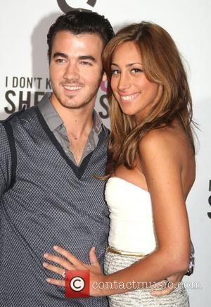 Kevin Jonas and his wife Danielle Deleasa New York premiere of 'I Don't Know How She Does It' held at...