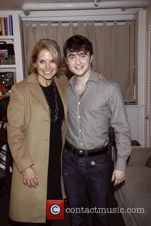 Katie Couric and Daniel Radcliffe