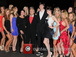 Hugh Hefner, Marston Hefner, Claire Sinclair and Playboy Playmates Playboy Founder and legend Hugh Hefner and son Marston Hefner celebrate...