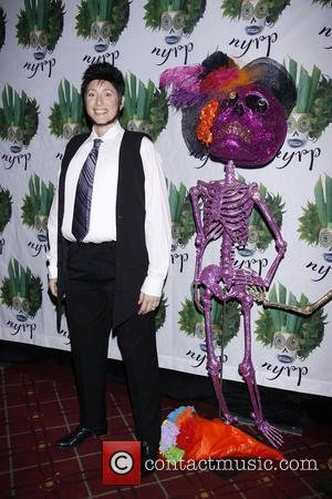 Judy Gold dressed as Chaz Bono Bette Midler's Annual 'Hulaween' Gala to benefit the New York Restoration Project held at...