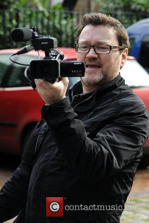 Ian Puleston-Davies films photographers outside Granada Studios Manchester, England - 10.03.11
