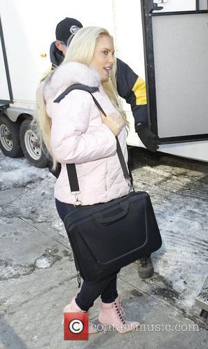 Coco Austin on the set of Law & Order: Special Victims Unit New York City, USA - 10.02.11