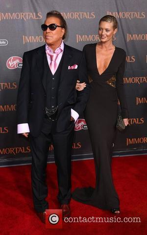 Mickey Rourke and Anastassija Makarenko 'Immortals 3D' Los Angeles premiere at Nokia Theatre L.A. Live  Los Angeles, California -...