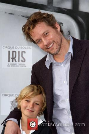 James Tupper and Son Premiere of Iris - A Journey Into The World Of Cinema by Cirque du Soleil, held...