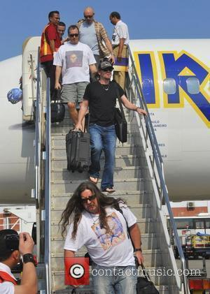 Band members of Iron Maiden arriving in Bali during their The Final Frontier World Tour 2011 Bali, Indonesia - 18.02.11