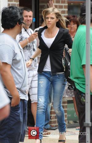 Kaitlin Olson 'It's Always Sunny in Philadelphia' film set on Jewelers Row in Philadelphia Philadelphia, USA - 23.06.11