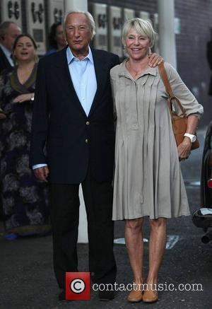 Michael Winner and wife Geraldine Lynton-Edwards at the ITV studios London, England - 29.09.11