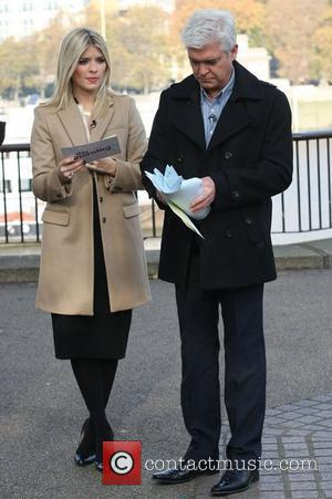 Phillip Schofield and Holly Willoughby filming for This Morning at the ITV studios London, England - 15.11.11