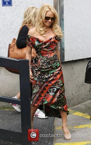 Pamela Anderson leaving the ITV studios London, England - 13.09.11