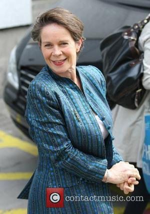 Celia Imrie Celebrities outside the ITV television studion London, England - 18.0411
