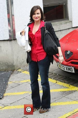Emma Forbes Celebrities outside the ITV television studios London, England - 05.04.11