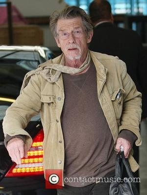 John Hurt leaving the ITV studios after appearing London, England - 22.09.11