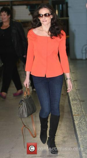 Lara Pulver leaving the ITV studios after appearing London, England - 22.09.11