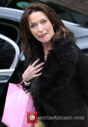 Cherie Lunghi outside the ITV studios London, England - 01.03.11