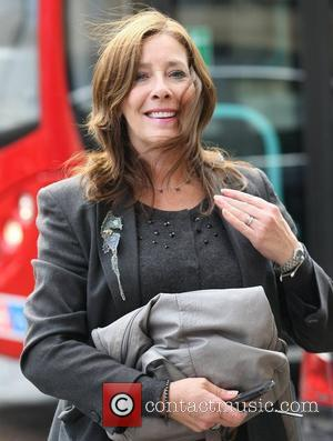 Phyllis Logan Celebrities outside the ITV studios London, England - 06.10.11