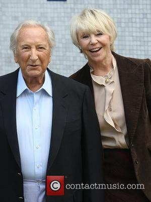 Michael Winner and Geraldine Lynton-Edwards  at the ITV studios London, England - 25.10.11