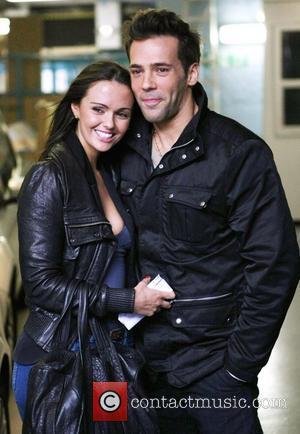 Jennifer Metcalfe and Sylvain Longchambon outside the ITV studios London, England - 07.02.11