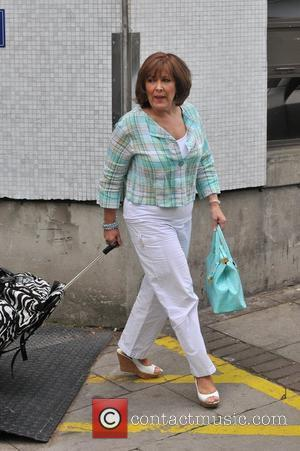 Linda Bellingham Celebrities outside the ITV television studios London, England - 19.05.11