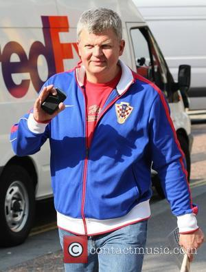 Adrian Chiles outside the ITV studios London, England - 04.07.11