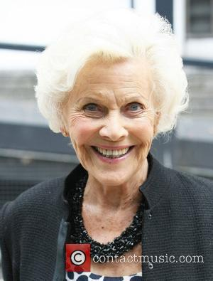 Honor Blackman  outside the ITV studios London, England - 13.06.11