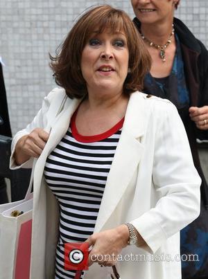 Lynda Bellingham outside the ITV studios London, England - 31.05.11