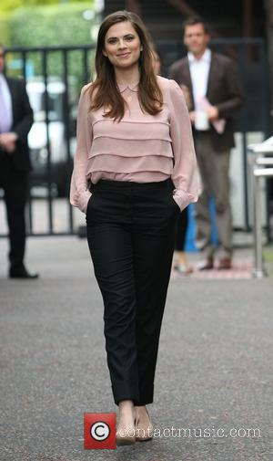 Hayley Atwell outside the ITV studios London, England - 01.08.11