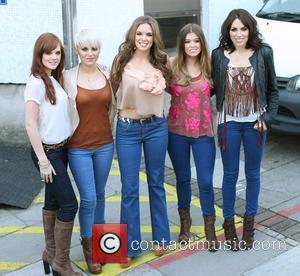 Corrina Duran, Kasey Smith, Jodi Albert, Leigh Learmont and Sharon Condon of Wonderland outside the ITV studios London, England -...