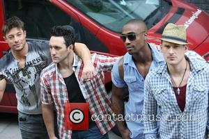 Duncan James, Antony Costa, Simon Webb, Lee Ryan of Blue Celebrities outside the ITV television studios London, England - 03.05.11