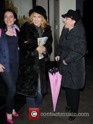 Anita Dobson and Lesley Joseph,  at the Ivy club. London, England - 28.02.11