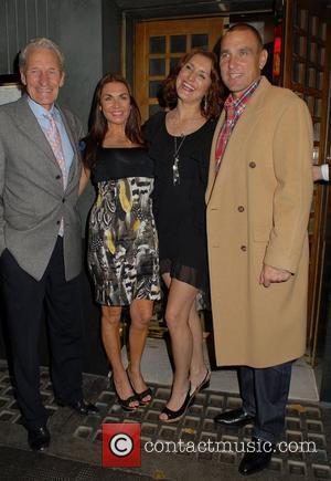 Peter Jones (Vinnie's father), Tanya Jones, guest, Vinnie Jones,  at the Ivy restaurant. London, England - 24.11.11