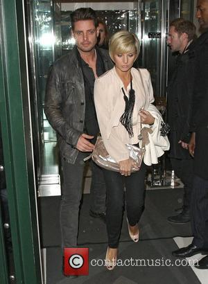 Boyzone star Keith Duffy out with his wife Lisa Smith celebrating Valentine's night at the Ivy Club. London, England -...