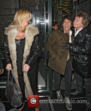 Penny Lancaster, Rod Stewart and Ronnie Wood