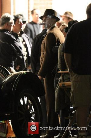 Leonardo DiCaprio on the set of Clint Eastwood's new film 'J. Edgar' Los Angeles, California - 11.02.11