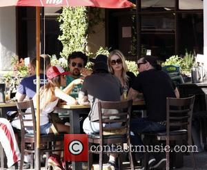 Jaime Camil enjoys lunch with his family at Toast cafe in West Hollywood Los Angeles, California - 30.04.11