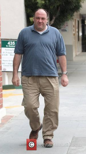 James Gandolfini arrives at a dentist office in Beverly Hills Los Angeles, California - 21.04.11