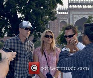 James Hetfield and wife Francesca Tomasi visit the Taj Mahal Agra, India - 29.10.11
