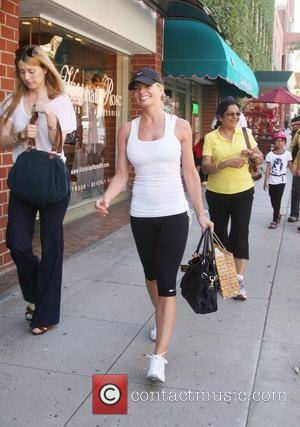 'My Name Is Earl' actress Jamie Pressly, goes shopping for lingerie on Sunset Boulevard in Los Angeles Los Angeles, California...