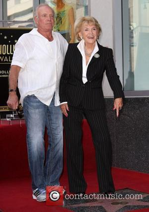 James Caan (L) and Jane Morgan Singer Jane Morgan receives a star on the Hollywood Walk of Fame held on...