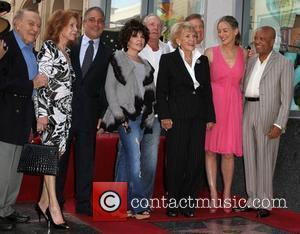 Tony Danza, Carole Bayer Sager, James Caan, Jane Morgan, Wink Martindale, Sharon Stone, Barry Gordy Jr Singer Jane Morgan receives...