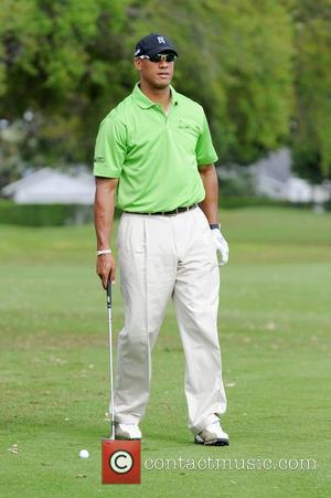 Jason Taylor participates in the eighth annual Jason Taylor Celebrity Golf Classic to benefit the Holtz Children's Hospital and Take...