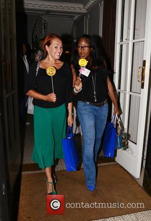 Angellica Bell And Sarah Cawood  Jeans for Genes launch party at Kettners - Departures London, England - 05.09.11