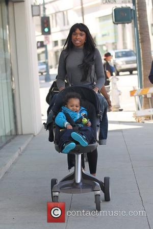 Jennifer Hudson and David Daniel Otunga Jr. Jennifer Hudson shopping with friends and her son in Beverly Hills Los Angeles,...