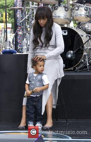 Jennifer Hudson and her son David Daniel Otunga Jr. Jennifer Hudson attends a soundcheck for CBS' 'The Early Show' after...
