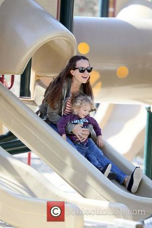 Jennifer Meyer takes her daughter Ruby Sweetheart Maguire for a day out at Coldwater Canyon Park Beverly Hills, USA -...