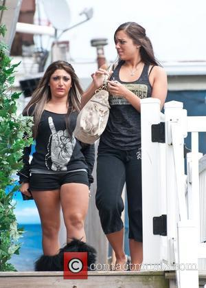 Deena Cortese, Sammi Giancola  Jersey Shore Filming in New Jersey  Seaside Heights, USA - 13.07.11