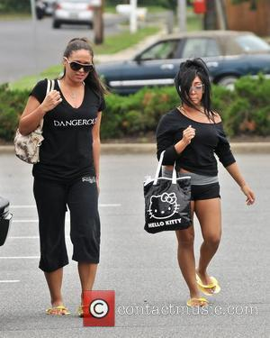 Sammi Giancola and Nicole Polizzi aka Snooki Cast members of MTV's 'Jersey Shore' shooting back in New Jersey, after recently...