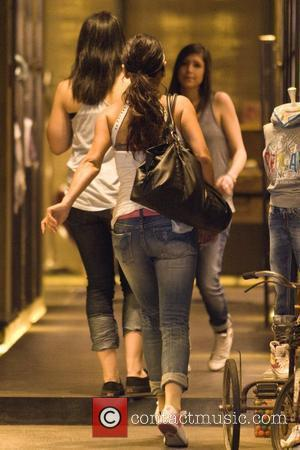 Jenni Farley aka JWoww and Deena Nicole Cortese 'Jersey Shore ' cast members shopping for clothes during a group outing....